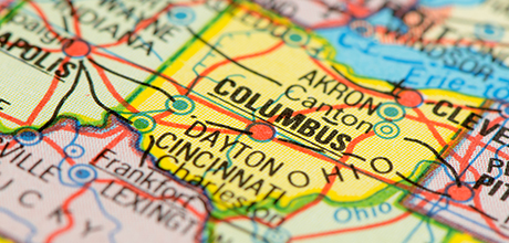Columbus Ohio map