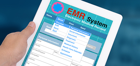 EMR on tablet