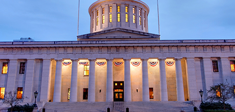 Ohio Statehouse evening