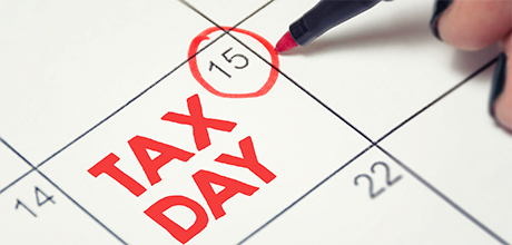 tax day on calendar