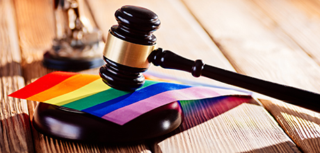 pride flag gavel