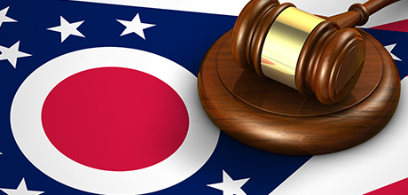 ohio flag and gavel